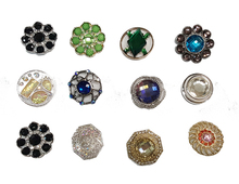 High Quality Fancy Round Diamante Crysta Bulkl Rhinestone Buttons