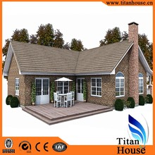 Low Cost China Supplier Modern Luxury Modular Light Steel Gauge Prefab Home Design