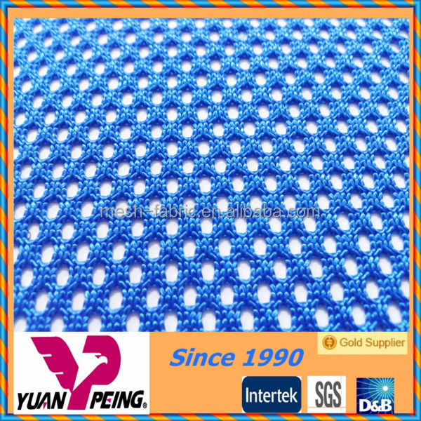 600D polyester blue warp knit office chair mesh fabric