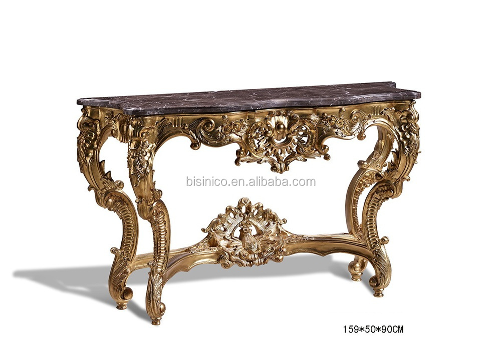 exquisite wood carved living room console table antique