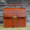 Vegetable tanned leather lady hand bag desinger handbag genuine leather