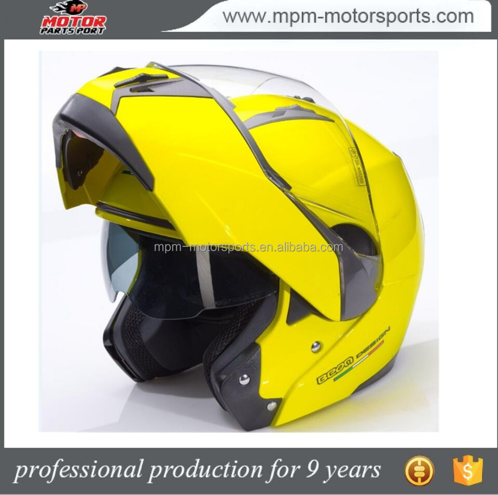 DOT ABS material dual visor motorcycle filp up helmet