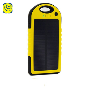 Solar Panel Mobile Phone Powerbank Waterproof Portable Charger 5000 mAh
