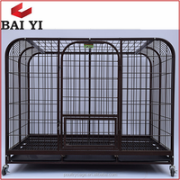 Professional Design Powder Coated Metal Wheeled Portable Dog Cage