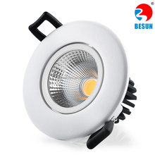 Besun 5 years warranty 12W 4 inch wwww xxx com Dimmable COB LED Downlight with High CRI High lumen