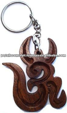 FASHION WOOD KEY CHAIN WITH METAL