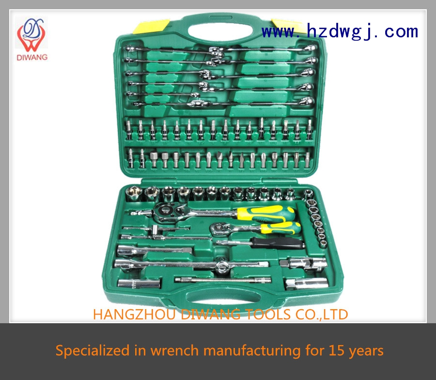 "hot sale high quality kraftwelle repairing 78pcs wrench sets (1/4""&1/2"")"