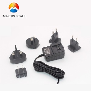 Detachable plug power adapter 12V 1A 0.5A ac dc switching power supply with EU UK AU US ahead for traveling