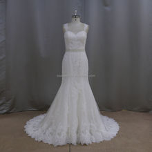 Real photo sloping strap description of wedding dress 2014