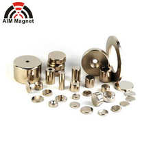 Custom sized round/block/cylinder/ring/countersink/Strong Neodymium Magnet for bag wallet