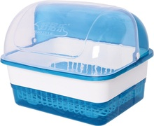 Plastic Dish Drying Rack With Cover