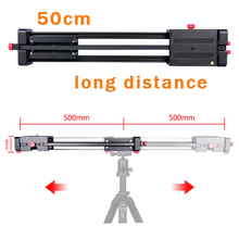 "Pro 19""/50cm Compact DSLR Camera Video Slider with Double Travel Distance Shoot Video Camera Track Dolly Rail Slider"