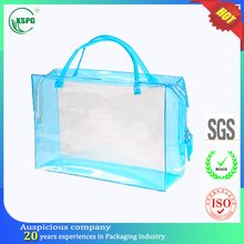 Clear tube handle toiletry pvc bag