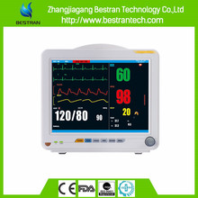 BT-PM8C China factory sale multi-parameter hospital heart rate monitor