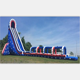 Giant plato Pvc Outdoor Commercial Amazing big Inflatable Water Slide For Adult Kids