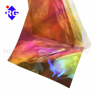 RG 3m comparable quality usa original dichroic rainbow iridescent film for flower