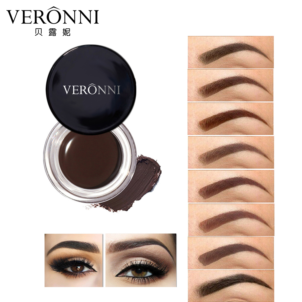 VERONNI Eyes Cosmetic Easy to Wear Waterproof Long Lasting Eyebrow Enhancers 4g 8 Colors Eyebrow Cream Eyebrow Brows Gel Tint