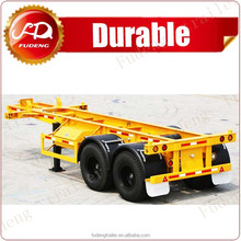 Mechanical Suspension 40ft transport container truck trailer chassis