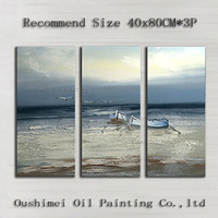 Superb Skills Artist 100%Handmade High Quality Abstract Vessel And Sea Oil Painting On Canvas Hand-painted Sea Oil Painting