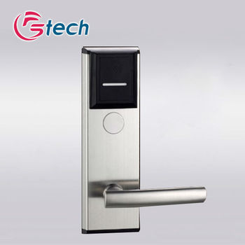 Stainless steel hotel lock with ic card lock software management