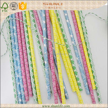 Pink polka dot,striped colored straws for party