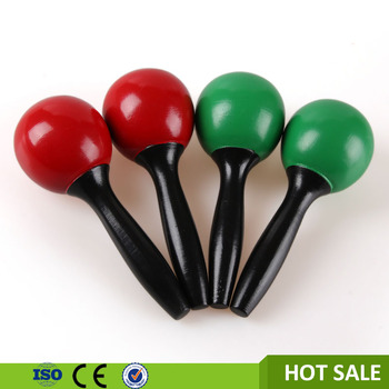 kids music instruments wooden toys manufacturer mini maracas