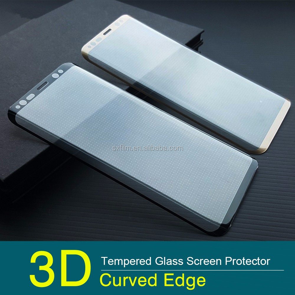 3D curved tempered glass screen protector for Samsung S8 edge