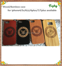 Best price slim phone custom design laser 3d black wood+pc phone case for iphone 5,for iphone 6,for 7