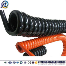 7/8 core pvc/pu/tpr/pur coiled spiral cable,electrical spring cable