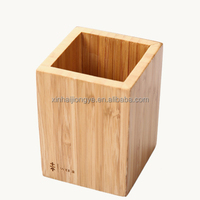Customized Printing Logo Bamboo Pen Holder