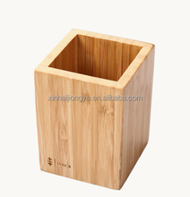 Customized Printing Logo Bamboo Pen Holder Accepted OEM