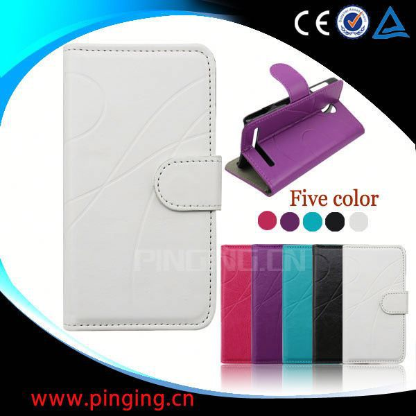 factory price leather credit card holder case for samsung galaxy s3