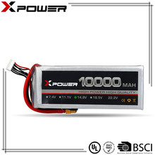 Professional Rechargeable 14.8V 4S 10000mAh 20C Deep Cycle RC LiPo Battery OEM Size Accepted for RC Drone helicopter Aircrafts