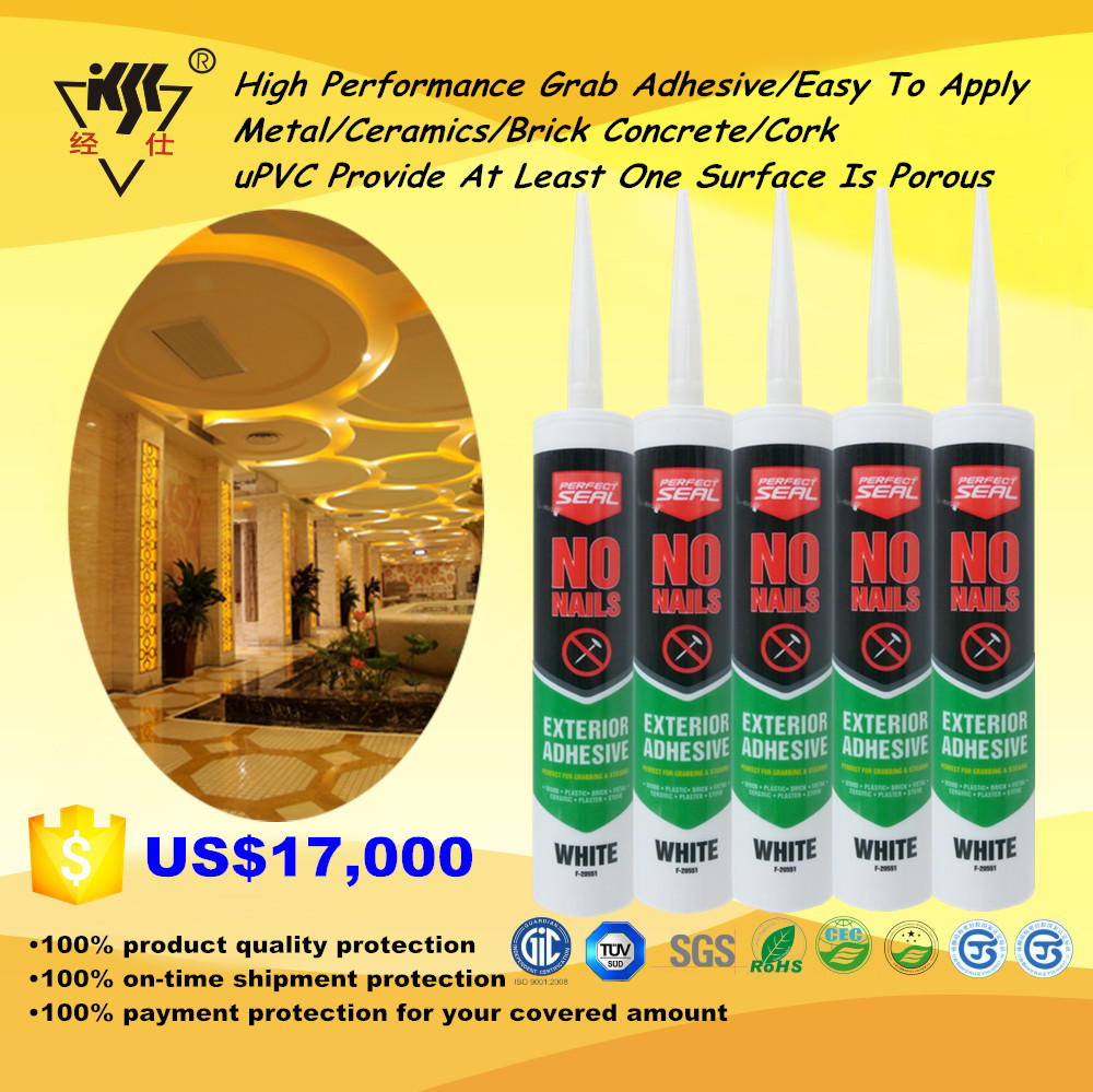 High Performance Grab Adhesive/Easy To Apply Metal/Ceramics/Brick Concrete/Cork/uPVC Provide At Least One Surface Is Porous