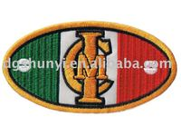 school embroidery label plain embroidered tags badges oval patches
