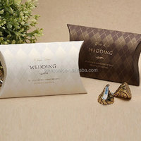 Art Paper Pillow Wedding Favour Box