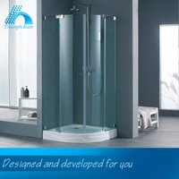 Lowest Cost Top Class Fashion Designs Acrylic Tray Hinged Corner Standing Round Shower