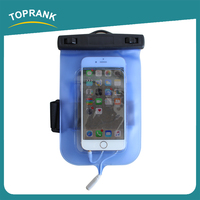 Toprank China Factory Universal PVC Waterproof Phone Bag Arm Portable Mobile Waterproof Bag With Earphone Port