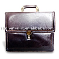Classic Briefcase with Golden Metal For Business Card