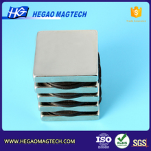 Ningbo super magnetic blocks 38.1x38.1x6.35mm rotor magnet permanent magnet generator