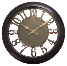 Hollow decoration plastic Vintage Wall Clock