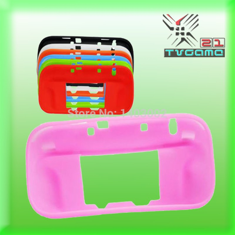 Wholesale Colorful Silicone Gel Protective Case Cover Skin for Wii U hand cover bag