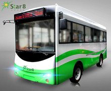 23seats mini electric vehicle sightseeing car solar city bus