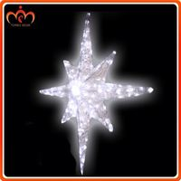 Christmas decorations 9W decorative plastic star with light