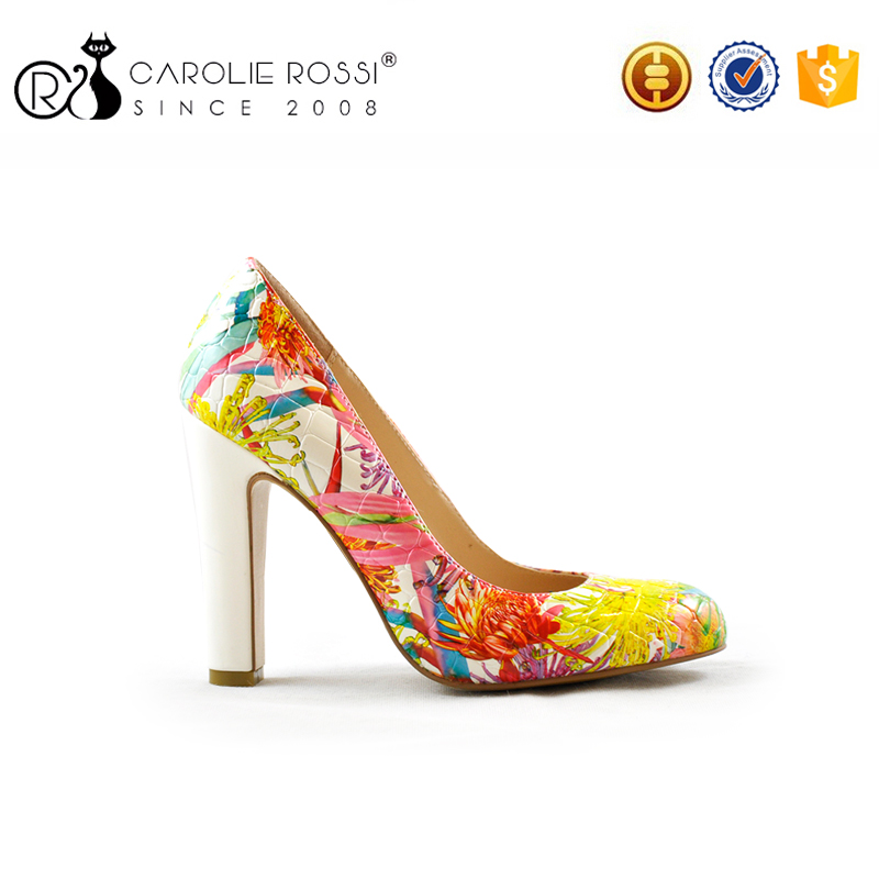 women shoes.html flowe print womens shoes spring 2016 <strong>heel</strong>