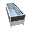 extra large outdoor wpc steel rectangular planter