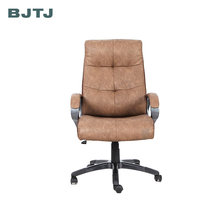 BJTJ vintage brown leather office staff computer chair/home swivel chair