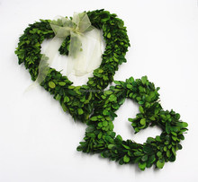 Natural preserved boxwood heart shape wreath for Chrisrmas Decoration