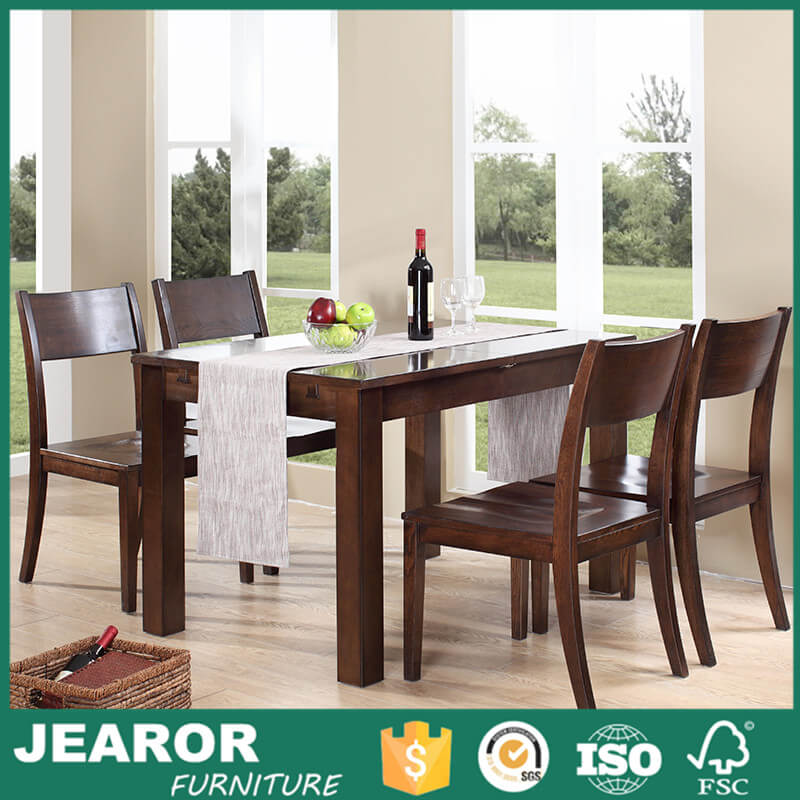 40 inch Contemporary Extending Solid Wood Rustic Dining Table for 6 2004