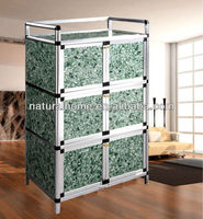 Home furniture office furniture Aluminium Alloy tube MDF board locker modern Storage Cabinet cheap kitchen living room cabinets